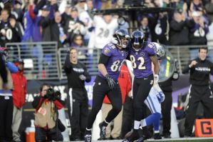 Torrey Smith and Dennis Pitta